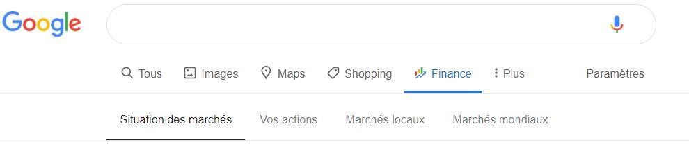 onglets google fiannce